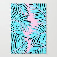palm tree Canvas Prints featuring Palm tree by Hanna Kastl-Lungberg