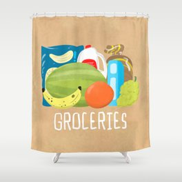 Groceries! Shower Curtain