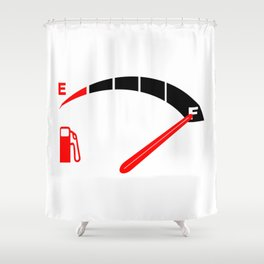 A Full Fuel Tank Shower Curtain