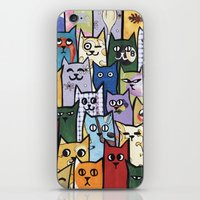 a lot of cats iPhone & iPod Skins featuring Cats a Lot by grrrenadine