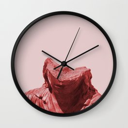 Shy red girl Wall Clock