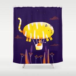 Cat Balloon Shower Curtain