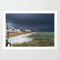 Storm Coming Worthing Beach Art Print