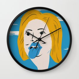 Rock N Roll Candidate / Hillary Clinton Wall Clock