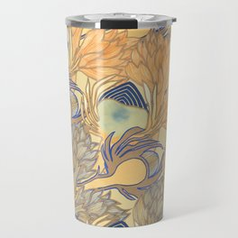Art Nouveau Artichokes Gold Travel Mug