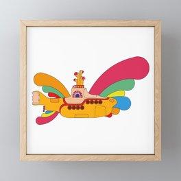The Yellow Submarine Cartoon Framed Mini Art Print