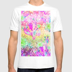 pink  cactus White MEDIUM Mens Fitted Tee
