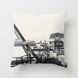 """""""Kelley's Island in Winter V."""" Photography by Willowcatdesigns Throw Pillow"""