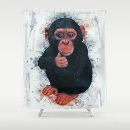 Chimpanzee Art Shower Curtain