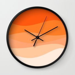 Creamsicle Dream - Abstract Wall Clock