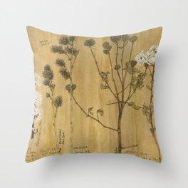 Winter Prairie Plants Throw Pillow