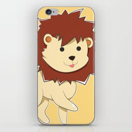 Happy Cartoon Baby Lion iPhone Skin