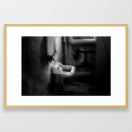 The lavatory Framed Art Print