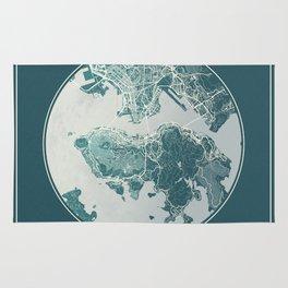 Hong Kong Map Planet Rug