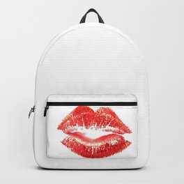 Beautiful Red Kiss Isolated Backpack