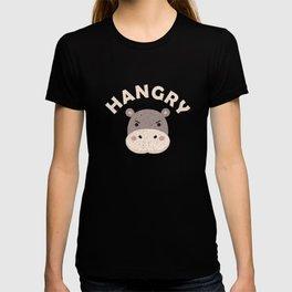 Funny Hippopotamus Hangry Cute Hippo Gift T-shirt