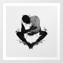 Passionate love. Art Print