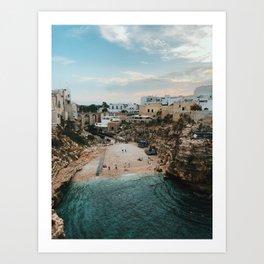 Beaches of Polignano Art Print
