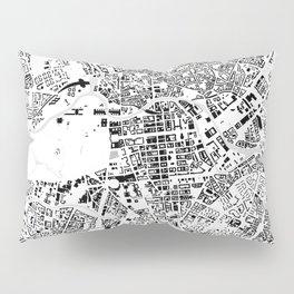 Berlin buildings map Pillow Sham