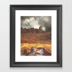the life and death of stars - collab with sammy slabbinck Framed Art Print