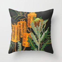 Hairpin Banksia Throw Pillow