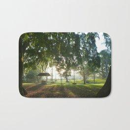 Misty Morning- Queens Park, Maryborough QLD Bath Mat