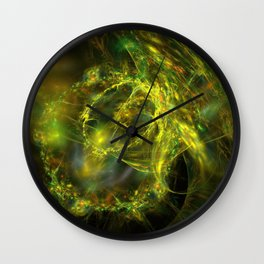 electric lasso fractal design Wall Clock