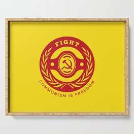 Fight For Freedom Communist Serving Tray