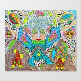 Supersonic Angel Pyramid Blaster Canvas Print