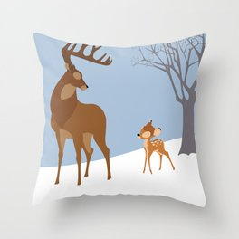 Bambi Throw Pillow