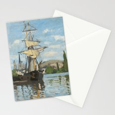 Claude Monet, Ships Riding on the Seine at Rouen, 1872 Stationery Cards