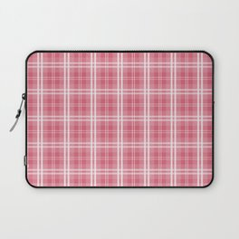 Faded and Shaded Nanucket Red and White Tartan Plaid Check Laptop Sleeve