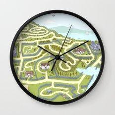 Limestone Village Maze Wall Clock