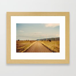The impossible will take a little while Framed Art Print