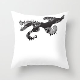 Gos Drac Throw Pillow