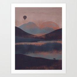 Adrift in the Mountains... Art Print