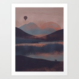 Adrift in the Mountains... Art Print
