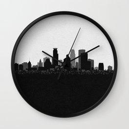 City Skylines: Minneapolis Wall Clock