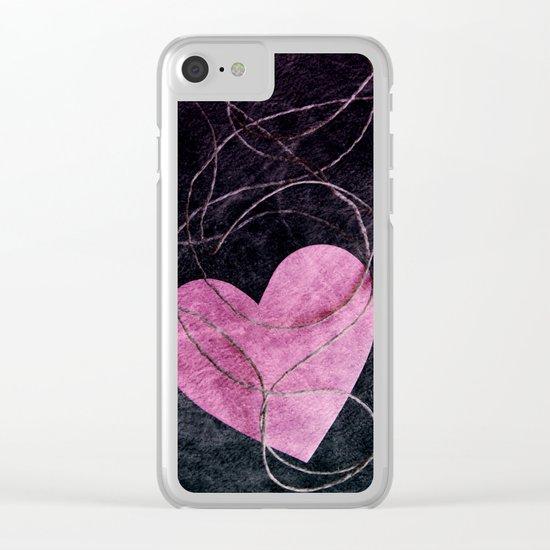 Heart grunge Clear iPhone Case