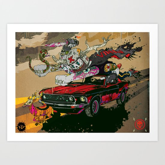Psilopsychonaut Art Print