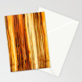 Abstract Gold Fire Paint VI Stationery Cards