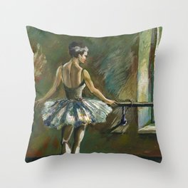 Ballerina Painting Acrylic Throw Pillow