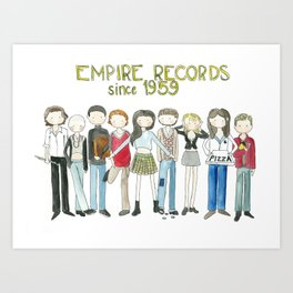 Empire Records cast fan Art Art Print