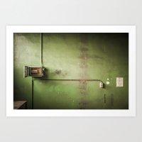 Art Print featuring Green electricity  by GautCheezzz