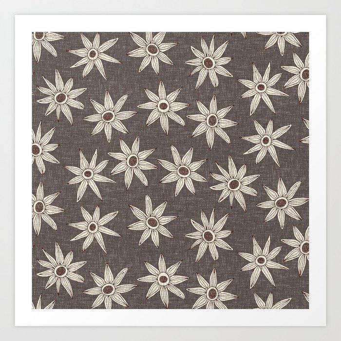 sema granite brown Art Print by sharonturner