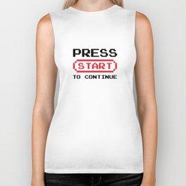 Press Start to continue Biker Tank