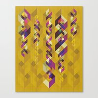 dna Canvas Prints featuring DNA by Lucky Skye