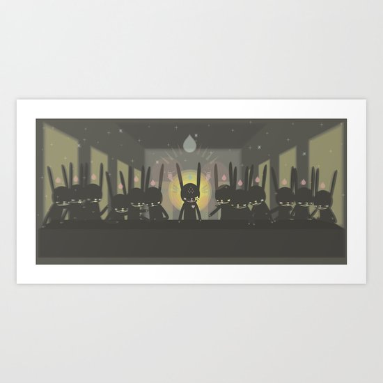 THE LAST  SUPPER [Leonardo Paul Pierro-vinci ] - IN THE NAME OF RABBIT Art Print