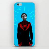 childish gambino iPhone & iPod Skins featuring Childish Spidey (Blue) by Maliboo