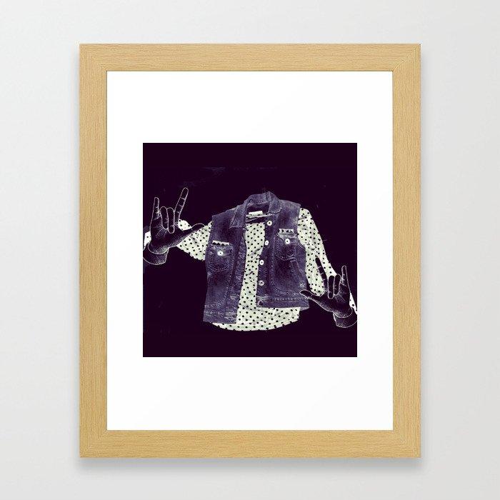 Fashion Ghost Framed Art Print